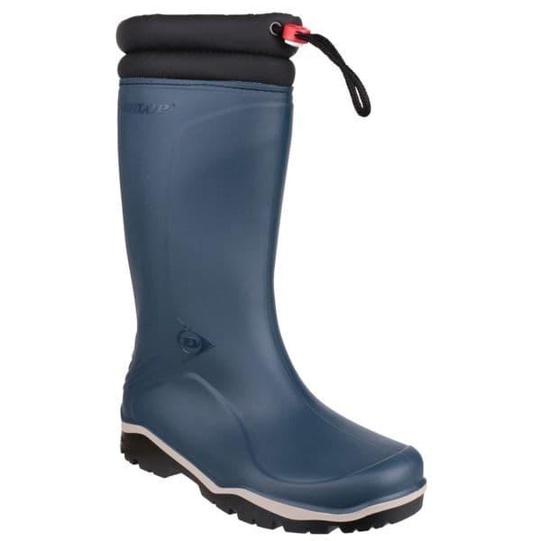 Dunlop Blizzard Plain Rubber Wellingtons Blue